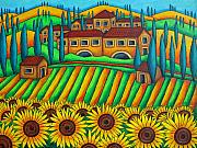 Colours Of Tuscany Print by Lisa  Lorenz