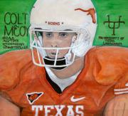 Quarterback Paintings - Colt McCoy UT Quarterback by Jose Cabral