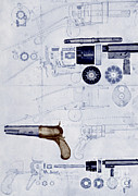 Samuel Photo Posters - Colt Pistol, Us Patent Diagram Poster by Science Source