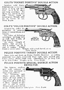 Fire Arms Prints - Colt Revolvers Print by Granger