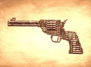 Colt 45 Prints - Colt SAA .45 Print by Bryan Evenson