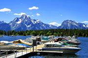 Wyoming Digital Art - Colter Bay by Vijay Sharon Govender