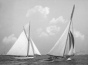 Padre Art Photos - Columbia and Shamrock Race the Americas Cup 1899 by Padre Art