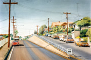 Columbia Prints - Columbia Street Middletown Print by Mary Helmreich