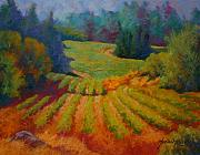Pastel Paintings - Columbia Valley Vineyard by Marion Rose