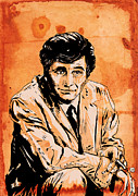 Crime Drawings Framed Prints - Columbo Framed Print by Giuseppe Cristiano