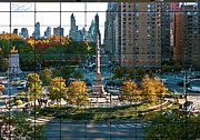 Warner Park Photo Posters - Columbus Circle Poster by S Paul Sahm