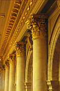 Des Moines Posters - Columns And Gilded Capitals In The Iowa Poster by Joel Sartore