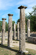 Kaufman Digital Art Acrylic Prints - Columns at Olympia Greece Acrylic Print by Eva Kaufman