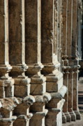 Stonewall Prints - Columns creating the facade of a gothic-style church Print by Sami Sarkis