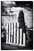 Ancient Ruins Prints - Columns Print by John Rizzuto