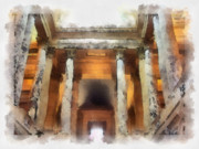 Senate Digital Art - Columns by Paulette Wright