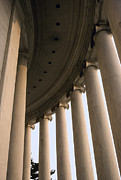 Jefferson Memorial Tapestries Textiles - Columns Surround The Jefferson Statue by Rex A. Stucky