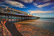 Seaside Digital Art Posters - Colwyn Pier Poster by Adrian Evans