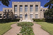 Landscaped Prints - Comanche County Courthouse in Texas Print by Jeremy Woodhouse