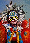 Indians Drawings Framed Prints - Comanche Dance Framed Print by Marilyn Smith