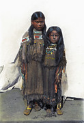 Comanche Framed Prints - Comanche Girls, 1892 Framed Print by Granger