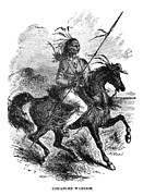 Great Warrior Framed Prints - Comanche Warrior, 1879 Framed Print by Granger