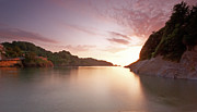 Summer Squall Prints - Combe Martin Sunset Print by Michael Stretton