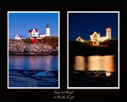 York Maine Prints - Combined Nubble Print by Greg Fortier
