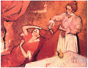 Grooming Art - Combing the Hair by Edgar Degas