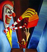 Clown Paintings - Come and Get It by Robert  Nugent