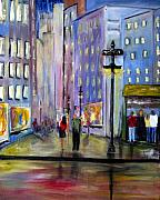 Streets Painting Originals - Come Away With Me by Julie Lueders