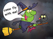 Witches Broom Posters - Come Fly With Me Poster by Garry Staranchuk