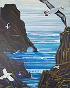 Albatross Paintings - Come fly with us by George Chacon