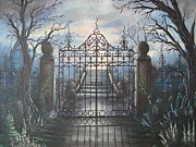 Haunted Mansion  Paintings - Come Forth by Krystyna Spink