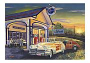 Route 66 Paintings - Come Get Your Kicks by Mike Hill