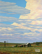 Old West Painting Prints - Come In Print by James W Johnson