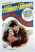 Lamarr Posters - Come Live With Me, Hedy Lamarr, James Poster by Everett