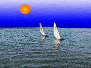 Nautical Digital Art - Come Sail Away With Me by Tim Allen