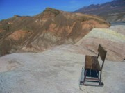 Park Benches Photos - Come Sit Awhile in Death Valley by Don Struke