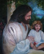 Abba Father Paintings - Come To Me Little Children by Judy Groves