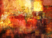 Modern Abstract Artwork Paintings - Come Together by Lutz Baar