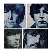 Beatles John Lennon Paul Mccartney George Harrison Ringo Starr Music Rock Icon Framed Prints - Come Together Framed Print by Paul Lovering