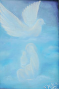 Dove Painting Originals - Come Unto  Me by Darlene Richardson