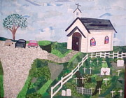 Rural Landscape Tapestries - Textiles Prints - Come Worship with Me Print by Charlene White
