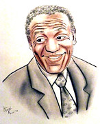 Closeup Art - Comedian and Actor  Bill Cosby by Jim Fitzpatrick