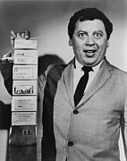 Actors Prints - Comedian Marty Allen, Holding Wallet Print by Everett