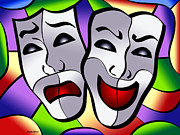 Applause Posters - Comedy and Tragedy Poster by Stephen Younts