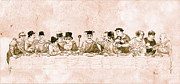 Woody Allen Prints - Comedys Last Supper Print by Tom Dudzick