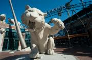 Ballpark Prints - Comerica Park Entrance Print by Steven Dunn