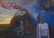 Surrealistic Painting Prints - Comes the storm Print by Fernando Alvarez
