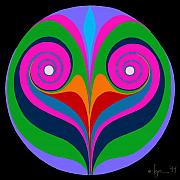 Mandalas Paintings - Comfort by Angela Treat Lyon