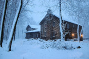 Log Cabin Prints - Comfort from the Cold Print by Kristin Elmquist