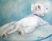 Animals Framed Prints Paintings - Comfort Zone by Mary Sparrow Smith