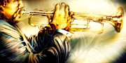 Jazz Canvas Art Pastels - Comfort Zone by Mike Massengale